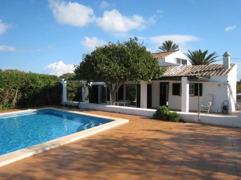 venta casa de campo con piscina en sant lluis menorca